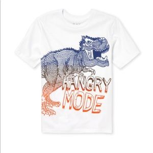 NWT Children's Place Dinosaur White T-Shirt S(5/6)